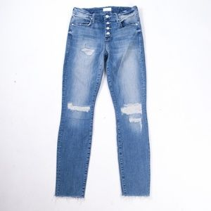 Mother Denim Pixie Fray Losing Control Jeans
